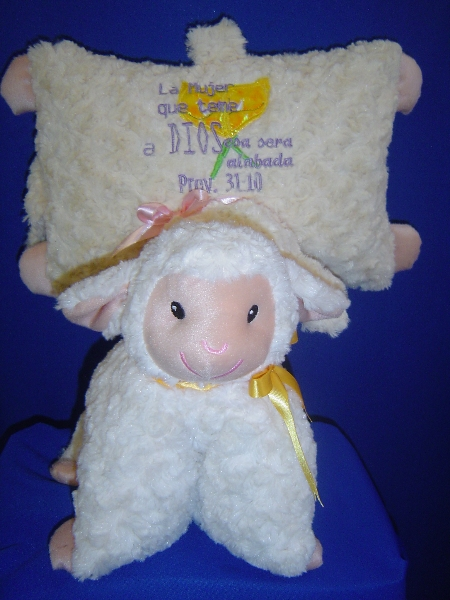 almohada oveja dia del niño y de la mama -038